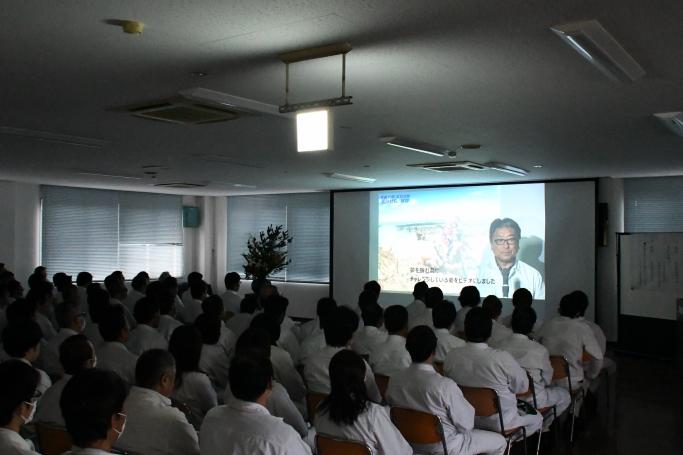 松原社長 新年の挨拶(出張中の為、映像にて)