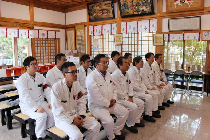 熊本市の西浦荒神社にて安全祈願
