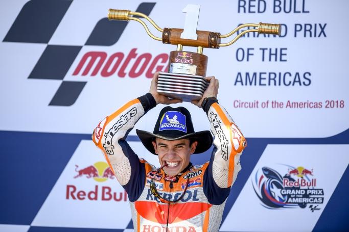 マルケス1位表彰台