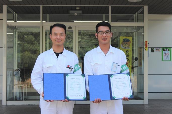 GTA技術・技術実習生 (左からタンさん、タオさん)