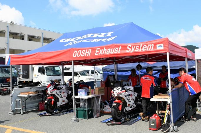 Goshi Racing パドック